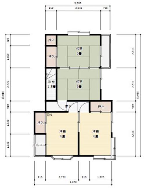 2階も、和室の続き間があり、十分な収納スペースがない…