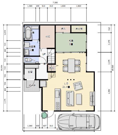 新潟市西区小針の家一軒まるごとリノベーション展示場アフター間取り1階